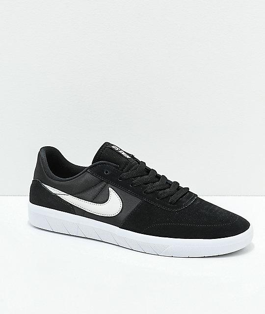 official photos 447ca 0e598 Nike SB Team Classic Black & Bone Skate Shoes
