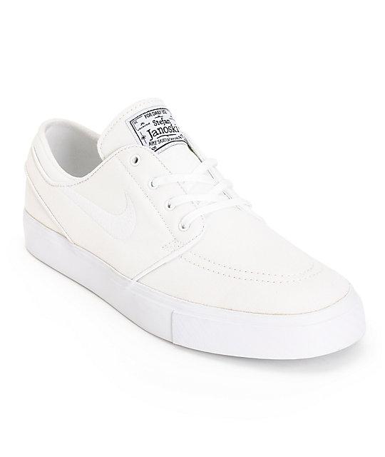 nike sb stefan janoski white on white