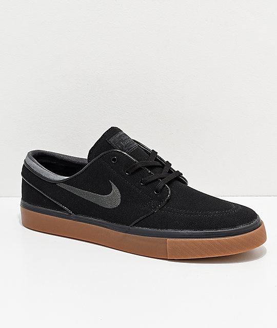 newest af55c 6a034 Nike SB Zoom Stefan Janoski Black, Anthracite,   Gum Canvas Shoes ...