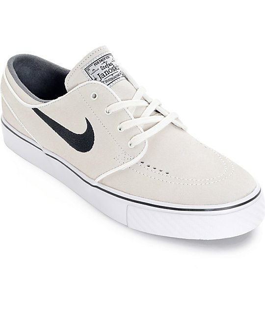 62ee7027d4 Nike SB Zoom Stefan Janoski Summit White and Black Skate Shoes