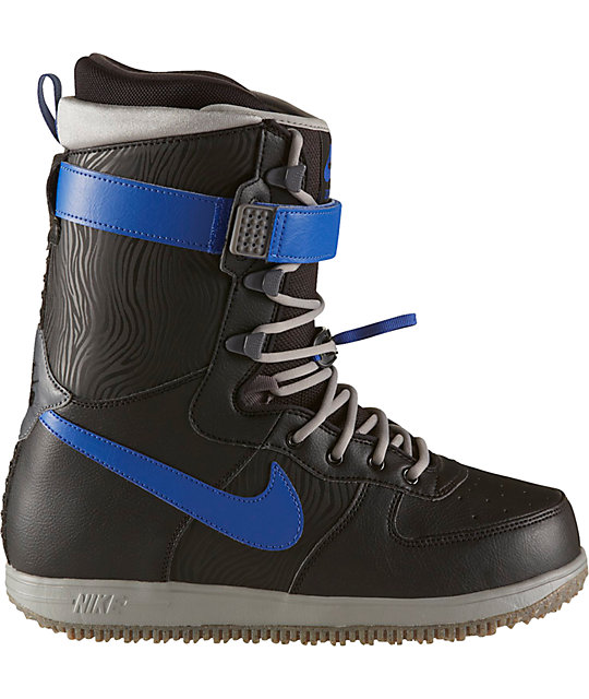 la moitié 85ca0 5f458 Nike Zoom Force 1 Black & Grey Snowboard Boots
