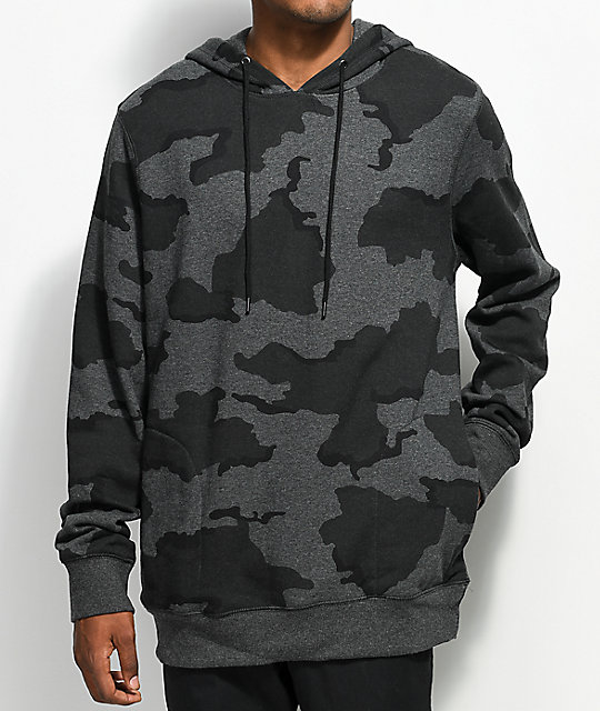 345909f434b7f Ninth Hall Blend Heather Black Camo Hoodie | Zumiez