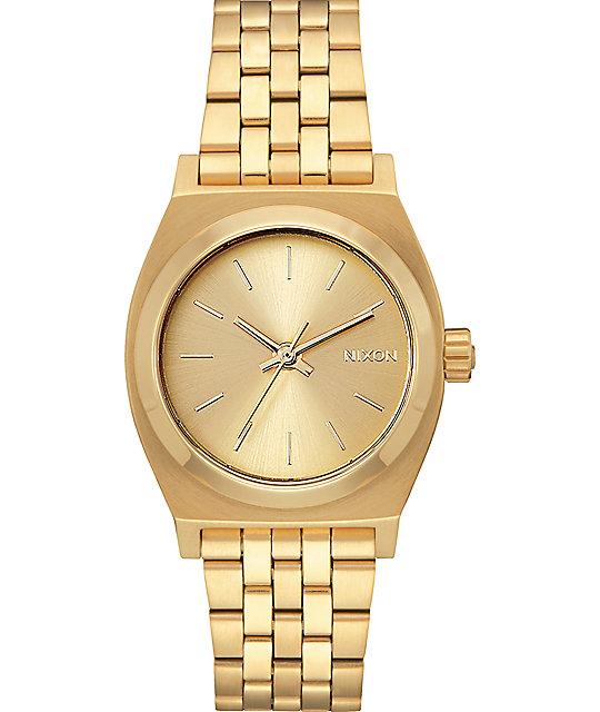 06310e9b2 Nixon Medium Time Teller All Gold Watch | Zumiez