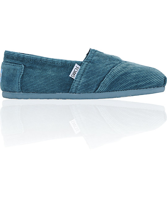 d6e4bbb0b4a5e7 ON SALE Toms Classics Teal Stonewash Corduroy Womens Shoes | Zumiez