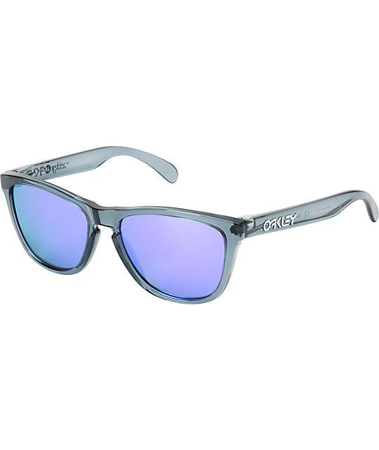 Frogskins Oakley Crystal Blackamp; Iridium Violet Sunglasses EHID9W2Y