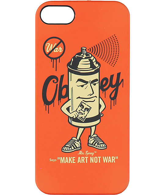 new style d6d1b 7d805 Obey Mr Spray iPhone 5 Case