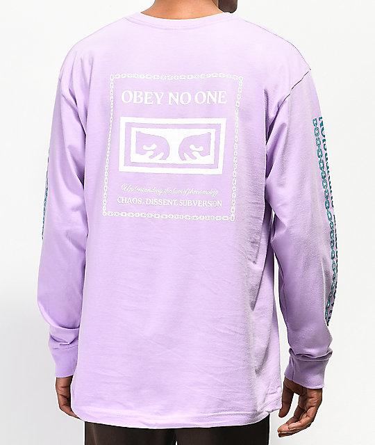 865295146ff1 Obey Understanding Lavender Long Sleeve T-Shirt   Zumiez