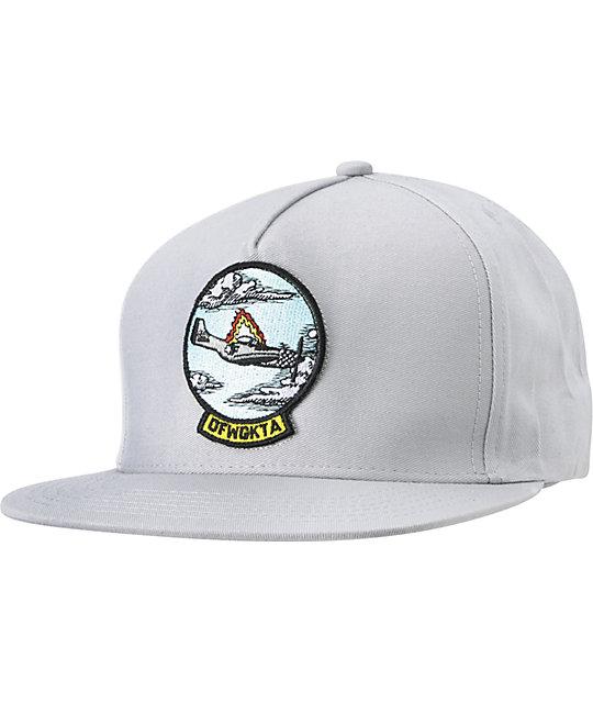 23045b56c Odd Future Burning Plane Grey Snapback Hat | Zumiez