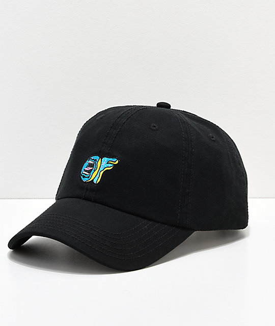 3122d93342f9d9 Odd Future x Santa Cruz Screaming Donut Black Strapback Hat | Zumiez