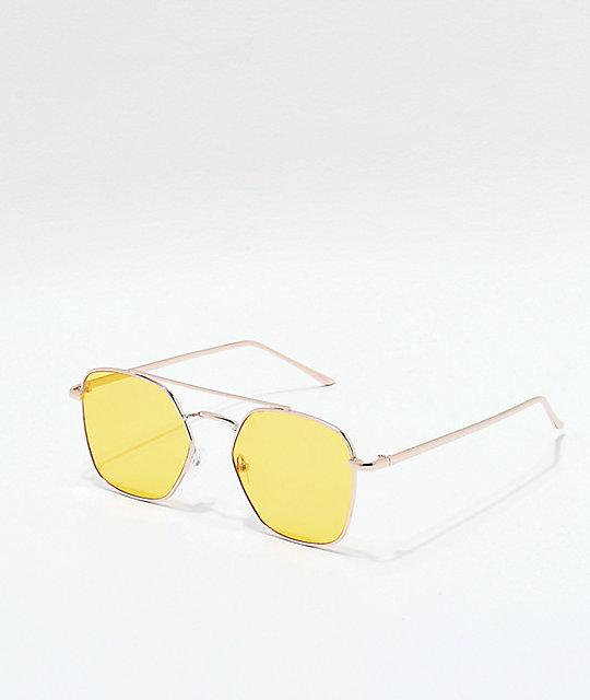 2a14ea480d Oversized Yellow Sunglasses