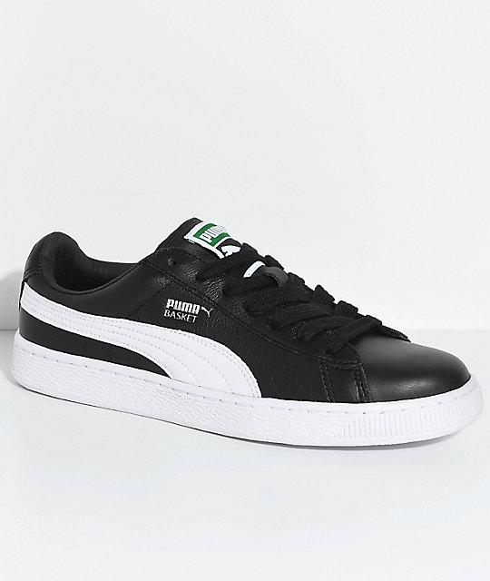 best service 41bc4 ee6af PUMA Basket Classic LFS Black & White Shoes