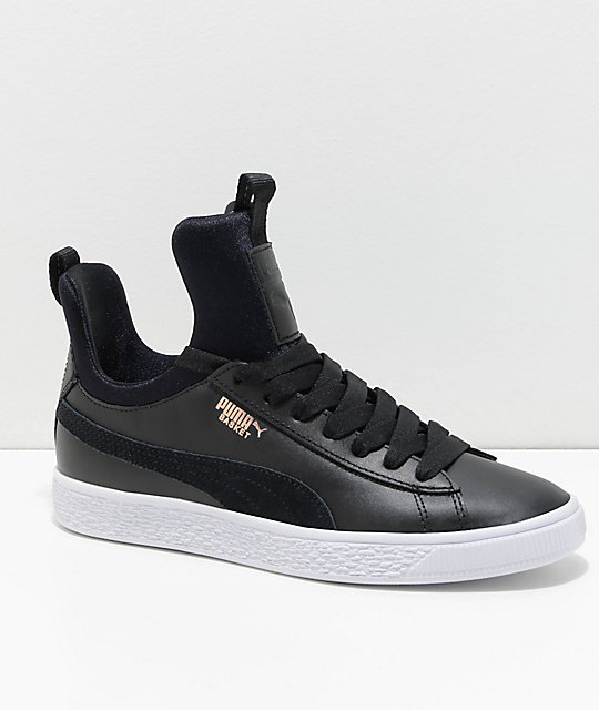 ca7ba1d48e0e PUMA Basket Fierce Black & White Shoes | Zumiez