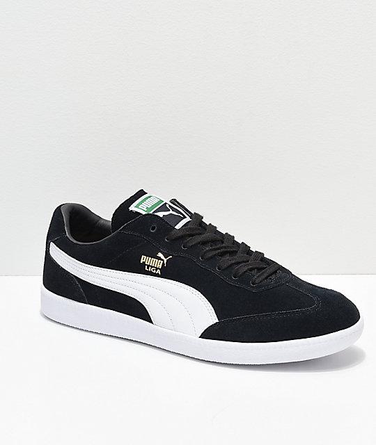 sports shoes 0580e 82736 PUMA Liga Suede Black & White Shoes