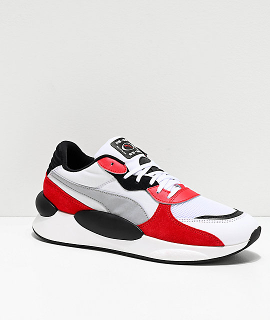 meilleur service 4f295 ee7e6 PUMA Space !RS 9.8 White & Red Shoes