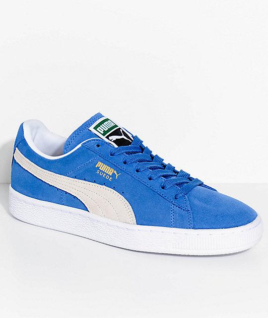 wholesale dealer 2e4b5 fa8d1 PUMA Suede Classic+ Olympian Blue & White Shoes