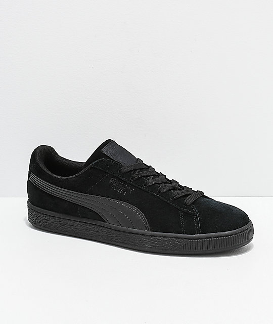 new style 88ea1 1047d PUMA Suede Classic+ All Black Shoes