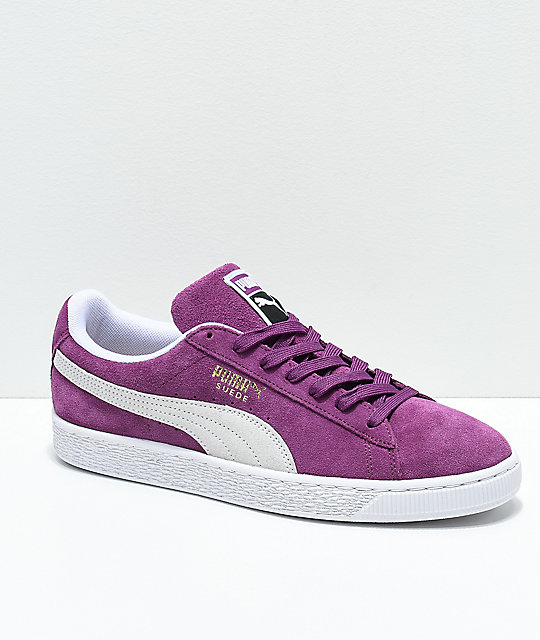 official photos e8819 06e8b PUMA Suede Classic+ Grape & White Shoes