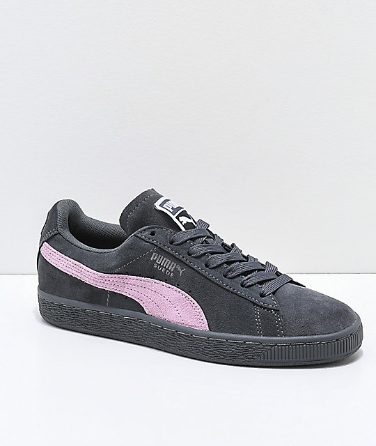 more photos c0557 c0db0 PUMA Suede Classic+ Iron Gate & Orchid Pink Shoes