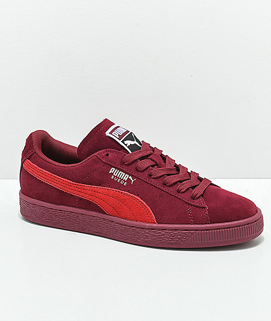 best service e12dd 84599 PUMA Suede Classic+ Pomegranate & Ribbon Red Shoes