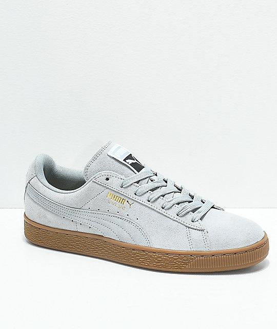 cheap for discount cd602 f4aee PUMA Suede Classic+ Quarry & Gum Shoes