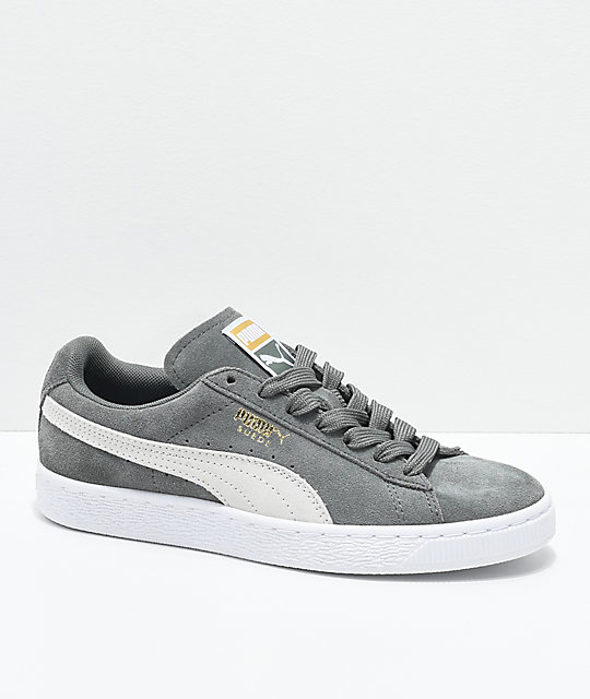 énorme réduction b7994 3f0d1 PUMA Suede Classic Agave Green & White Shoes