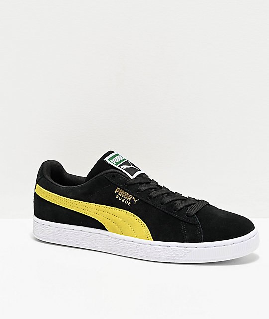 magasin en ligne 0ed7c e3957 PUMA Suede Classic Black & Yellow Shoes