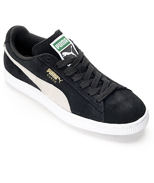 official photos 5d7d1 f4d4b PUMA Suede Classic Black Shoes (Womens)