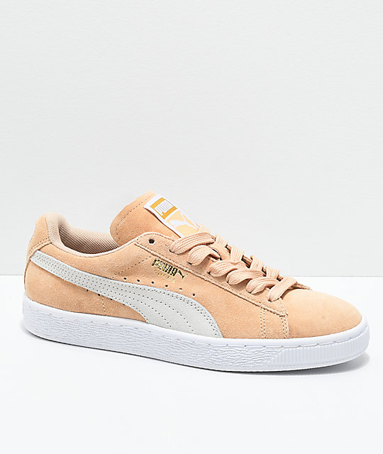 huge selection of 02626 2bebe PUMA Suede Classic Natural Vachetta & White Shoes