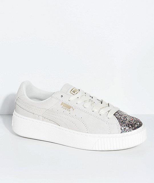 design de qualité e50bb 8b468 PUMA Suede Platform Crushed Gem & Grey Shoes