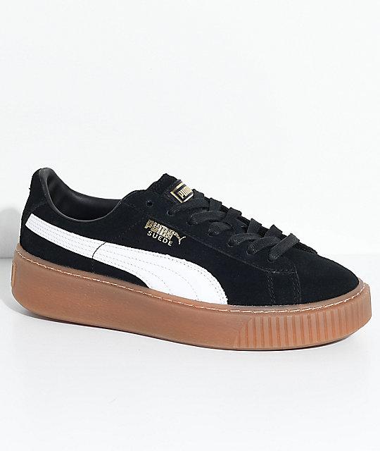 Zapatos Y Puma En BlancoNegro Suede Platform Goma bgfy7Y6v