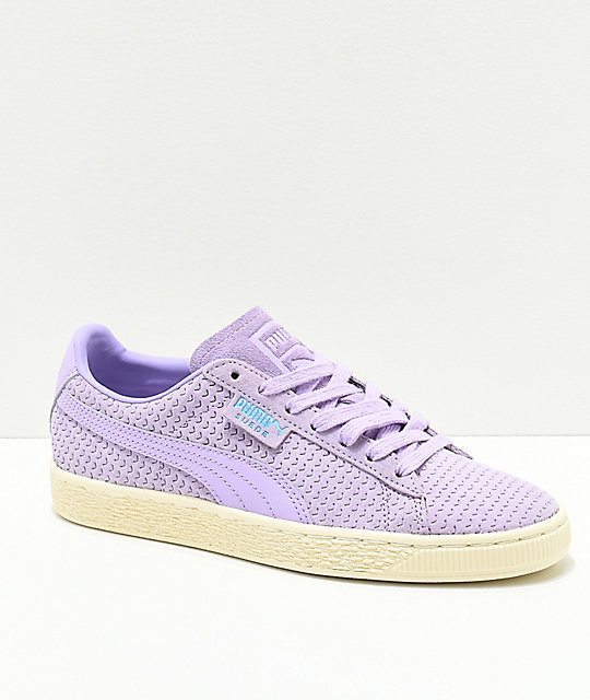 quality design 08817 18979 PUMA Suede Purple Rose & White Shoes
