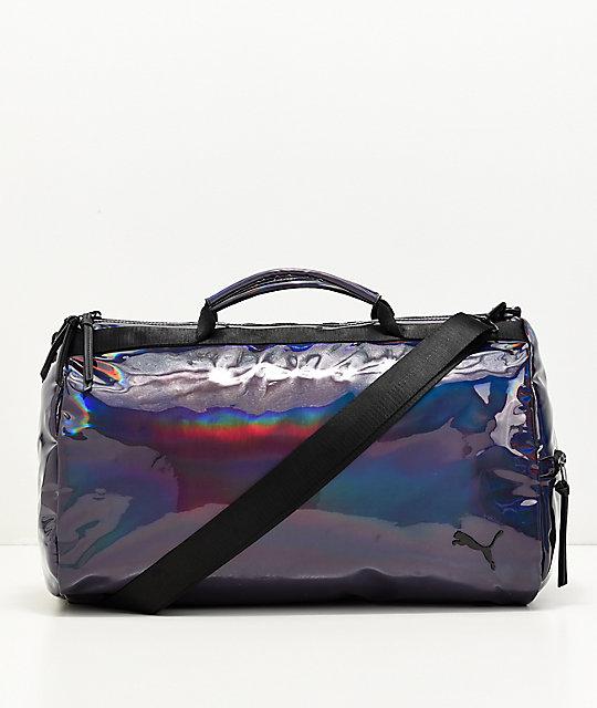 89aeb83454c6fe PUMA Uppercut Iridescent & Black Duffle Bag   Zumiez