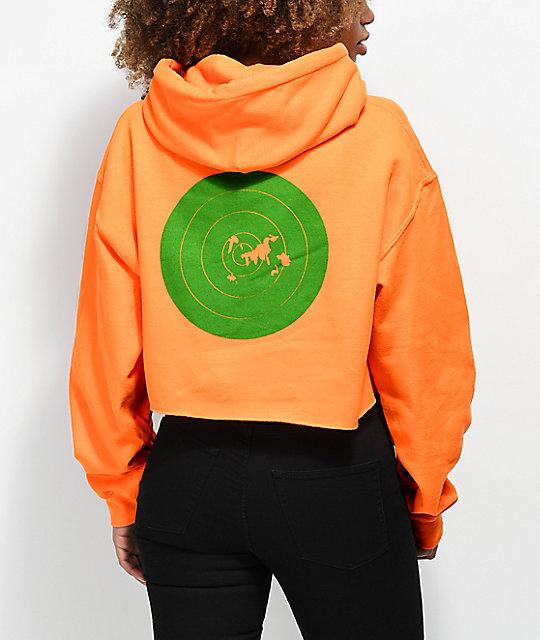 174be1c9a81a Post Malone Stoney Target Hunt Club Orange Crop Hoodie | Zumiez