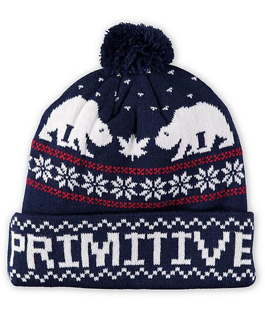 ba2901367 Primitive Jolly Bear 2 Pom Beanie