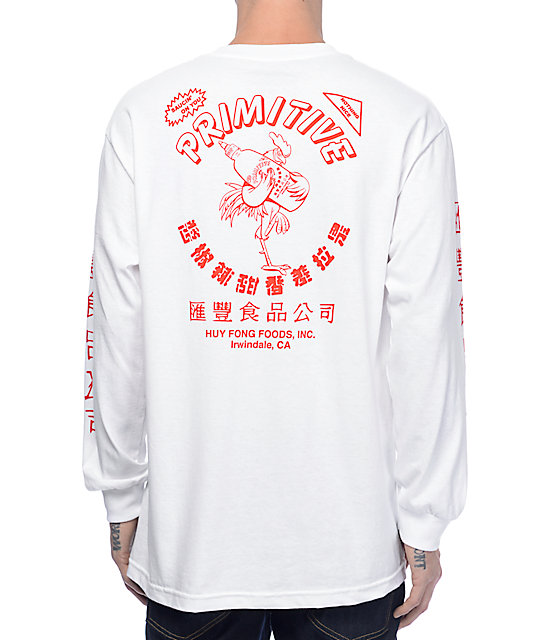 72150693c352 Primitive X Huy Fong White Long Sleeve T-Shirt | Zumiez