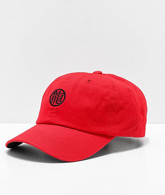 the latest 52a9c ea39d Primitive x Dragon Ball Z Dragon Symbol Red Strapback Hat   Zumiez