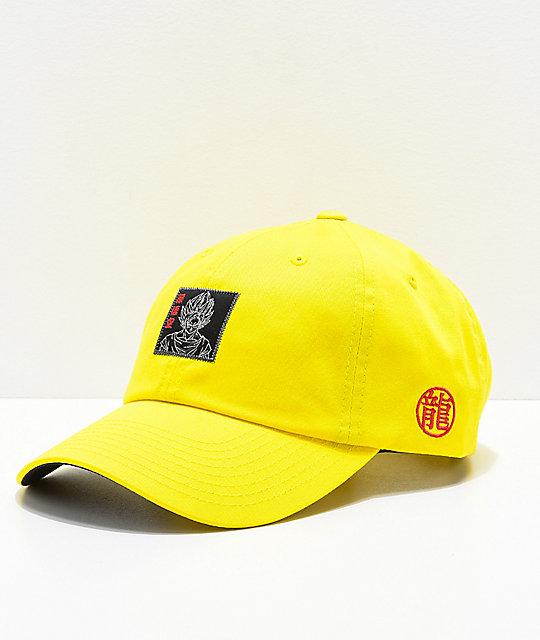 huge selection of 04952 a69b2 Primitive x Dragon Ball Z Goku Reflective Yellow Strapback Hat   Zumiez