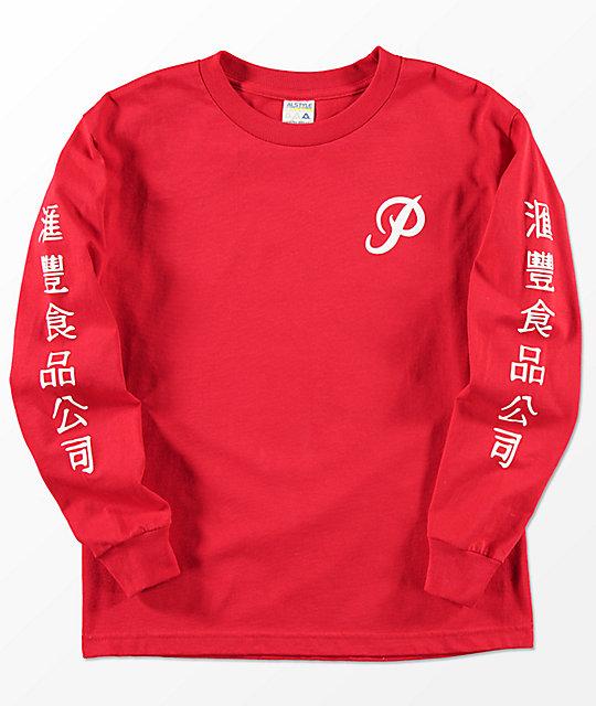 b8d5178150a1 Primitive x Huy Fong Boys Long Sleeve Red T-Shirt | Zumiez