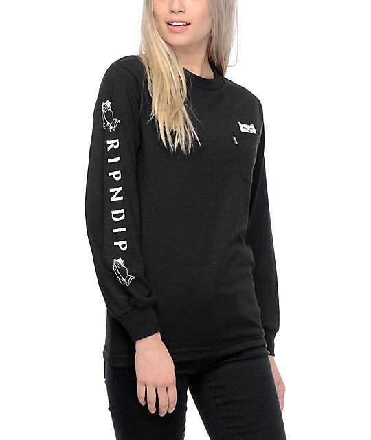 3a2c12a92432 RIPNDIP Lord Nermal Black Long Sleeve T-Shirt | Zumiez
