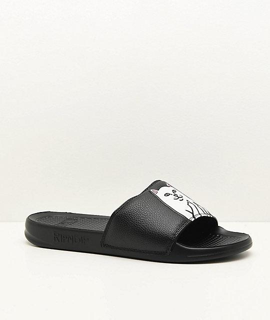 cedc3617b RIPNDIP Lord Nermal Black Slide Sandals | Zumiez