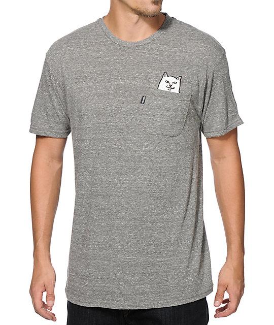bc296948d1b8 RIPNDIP Lord Nermal Grey Pocket T-Shirt   Zumiez