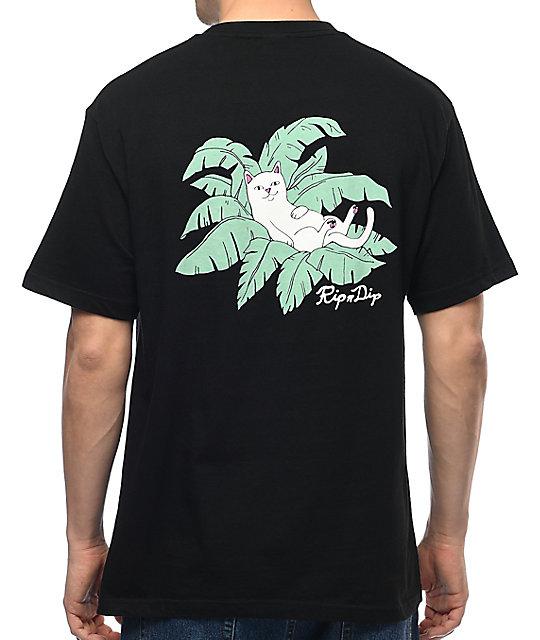 337184329457 RIPNDIP Nermal Leaf Black Pocket T-Shirt   Zumiez