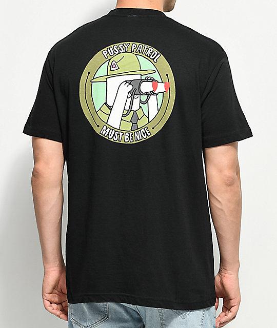 61636f0f2e30 RIPNDIP Pussy Patrol Black Pocket T-Shirt   Zumiez