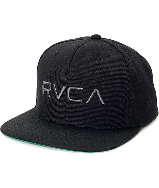 d08eb126c23df9 RVCA Twill Black Snapback Hat | Zumiez