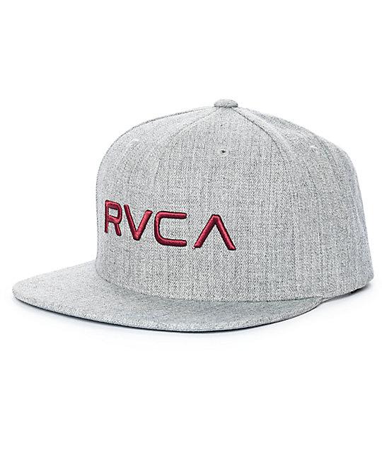 af6d3291b02b6d RVCA Twill III Heather Grey Snapback Hat | Zumiez