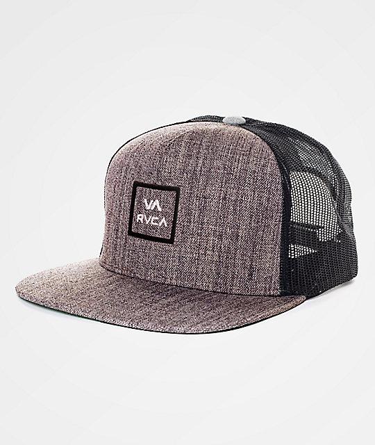 198177061322a1 RVCA VA All The Way Heather Grey Trucker Hat | Zumiez