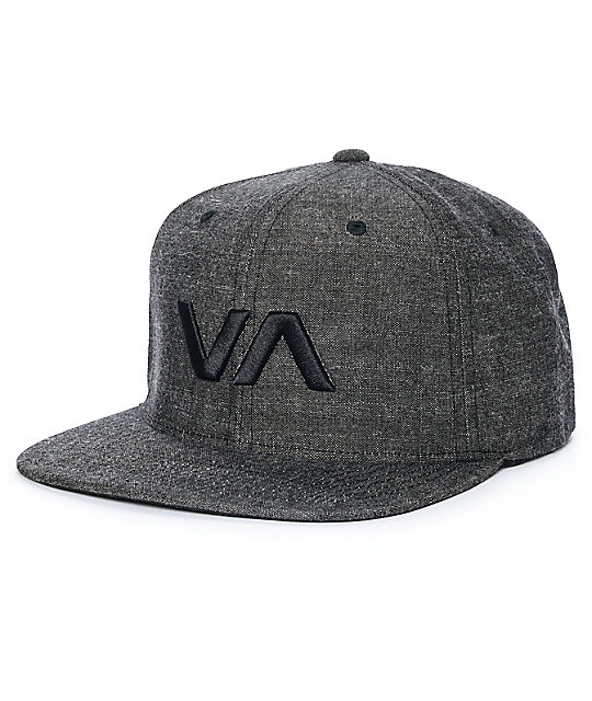 8939eda4e669c0 RVCA VA II Black Denim Snapback Hat | Zumiez