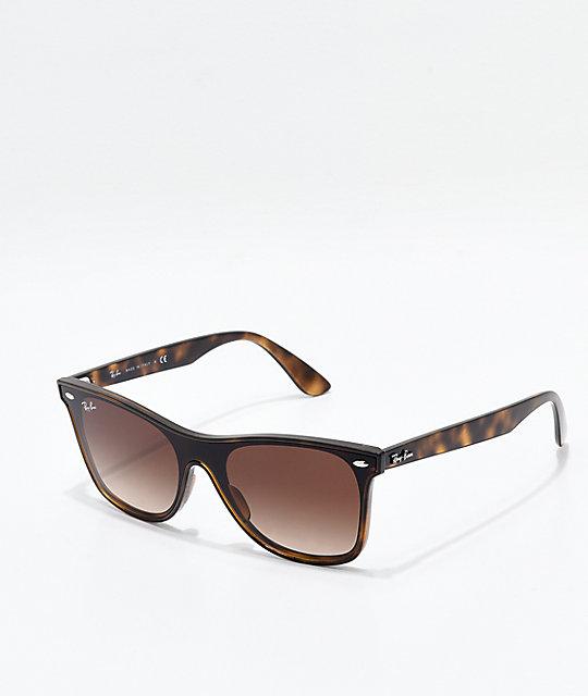 8c643bd7c231 Ray-Ban Blaze Wayfarer Tortoise & Light Havana Gradient Sunglasses   Zumiez