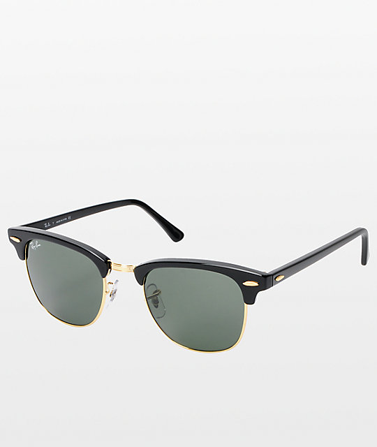 56f8a3ed4 Ray-Ban Clubmaster Black & Gold Sunglasses | Zumiez