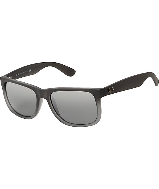 0ec2cc27a9bc Ray-Ban Justin Matte Grey Sunglasses | Zumiez